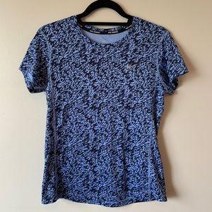 🦚Nike Running DRI FIT blue short sleeve t-shirt
